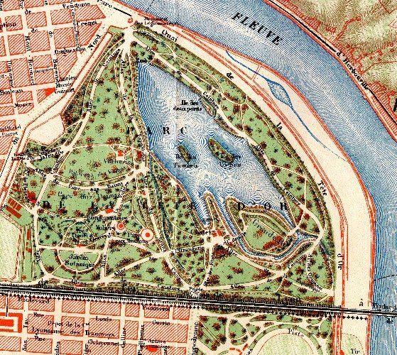 Plan du Parc de la tete d'or