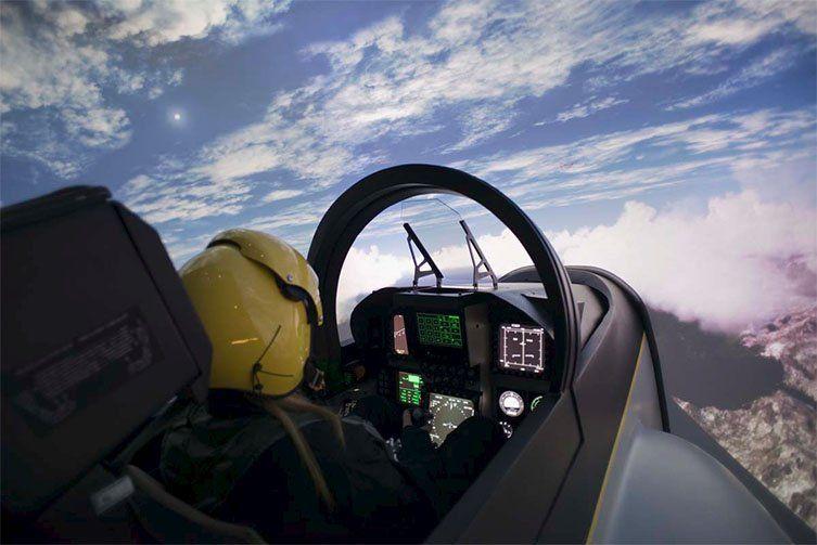 Simulation d'avion de chasse à l'Iway