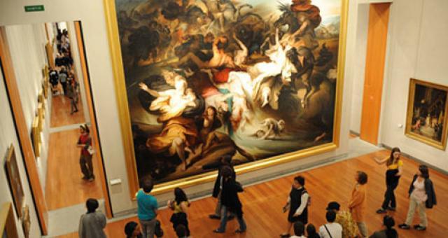 Tableau au musée des beaux arts de Lyon