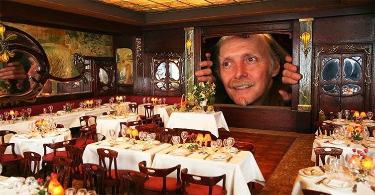 Salle de restaurant miniature