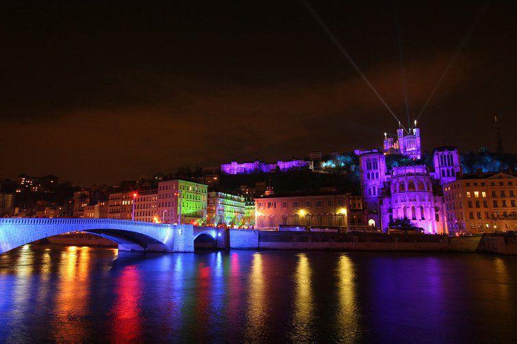 Quais de Saône la nuit