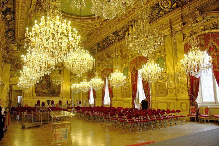 Un salon de l'Hôtel de Ville de Lyon