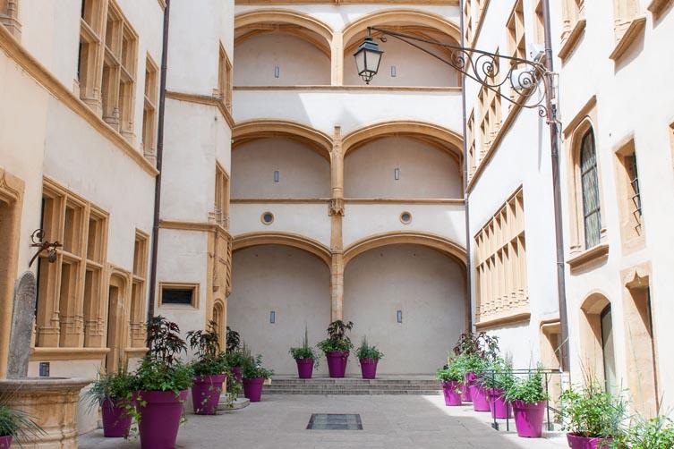 Cour intérieure du musée Gadagne