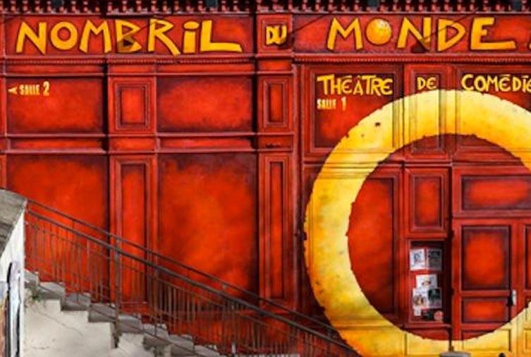 Entrée du théâtre le nombril du monde