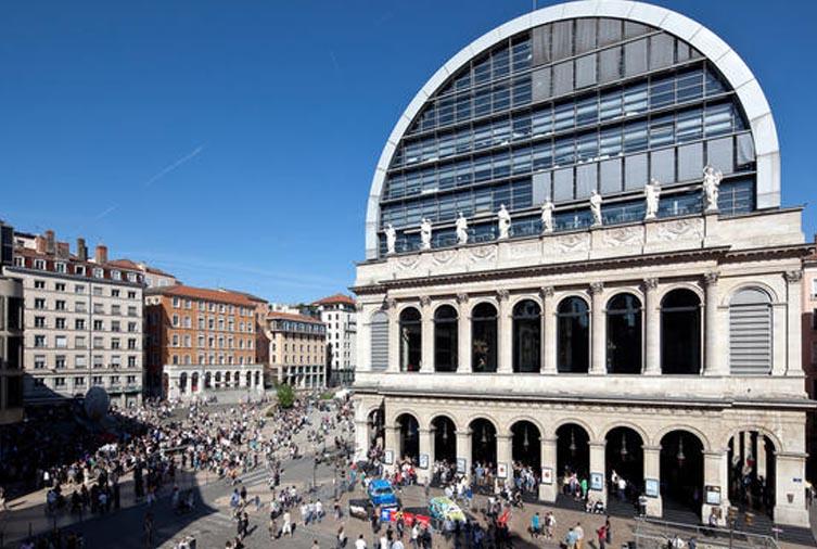 Extérieur de l'Opéra de Lyon